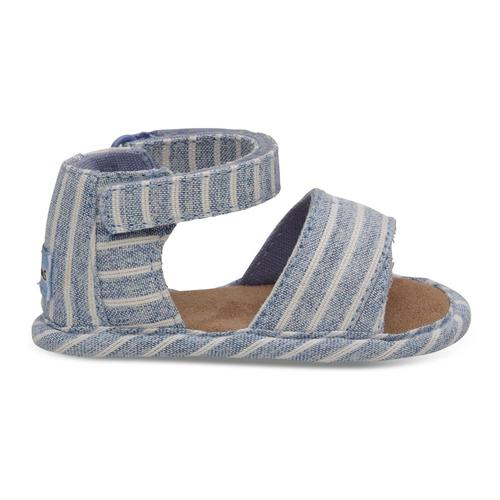 TOMS Toddler Sky Washed Stripe Shiloh Sandals