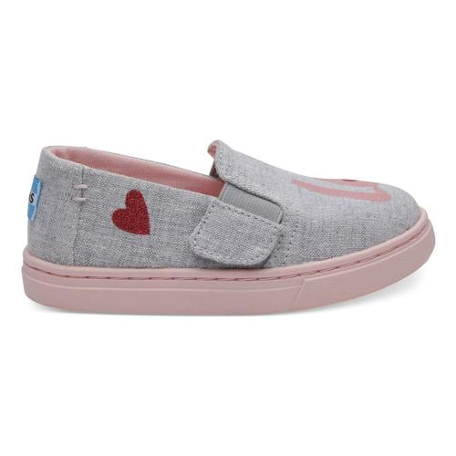 TOMS Kids Drizzle Grey LOVE Luca Slip-Ons