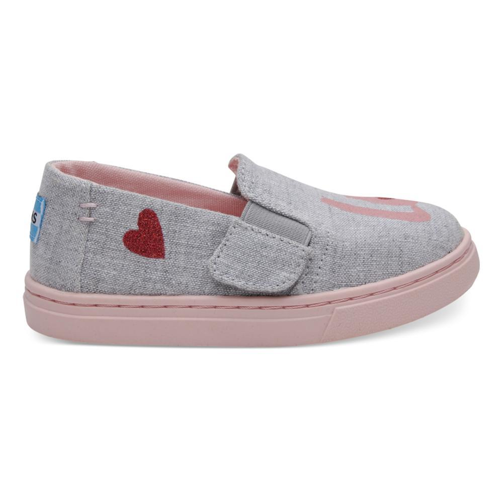TOMS Kids Drizzle Grey LOVE Luca Slip-Ons GREYLOVE