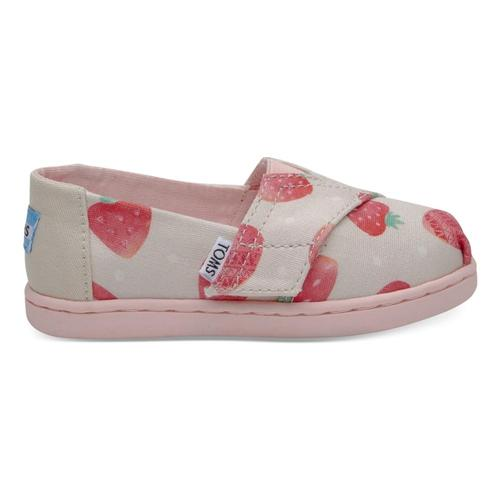TOMS Kids Birch Strawberries And Cream Tiny Classics Alpargatas