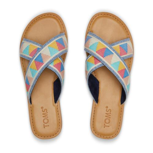 TOMS Women's Multi Patterened Viv Sandals