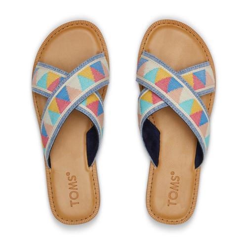TOMS Women's Multi Patterened Viv Sandals