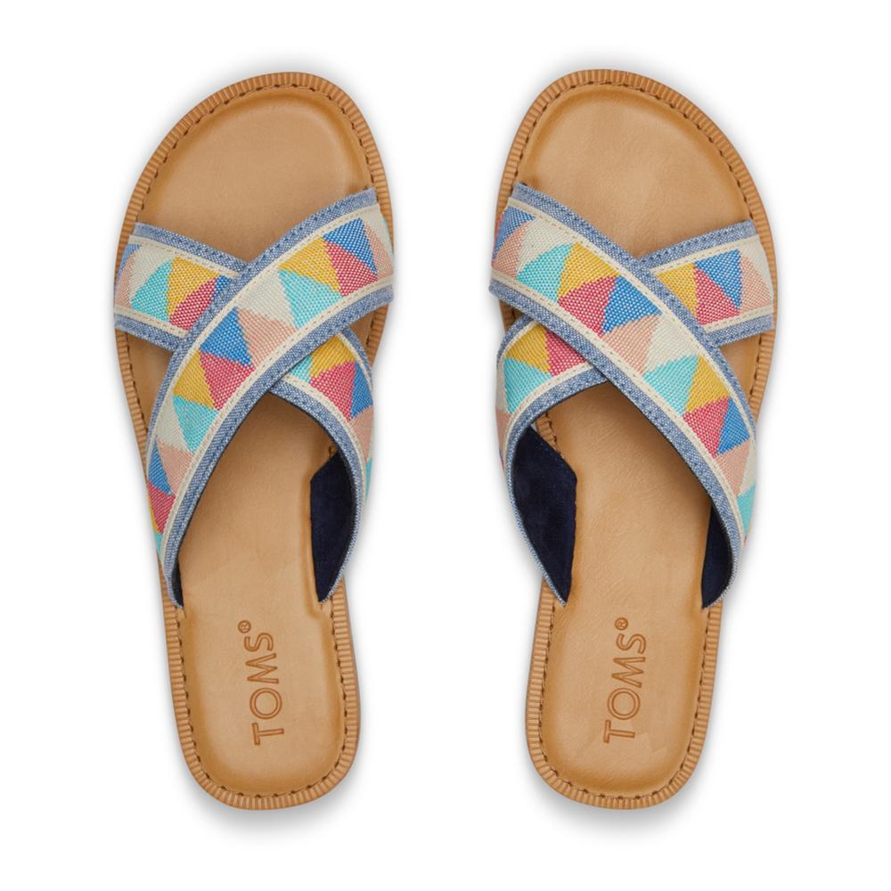 TOMS Women's Multi Patterened Viv Sandals MULTTRIBL