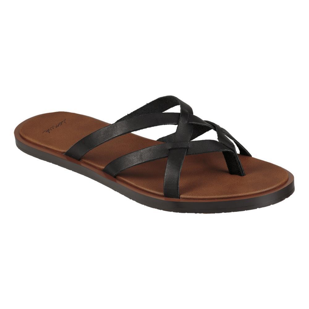 Sanuk Women's Yoga Strappy Slip On Sandals BLACK