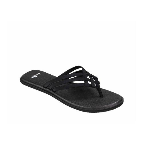 Sanuk Women's Yoga Salty Metallic Sandals BLACK