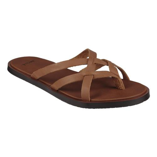 Sanuk Women's Yoga Strappy Slip On Sandals TOBACCO