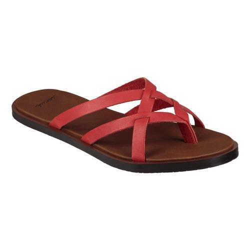 Sanuk Women's Yoga Strappy Slip On Sandals Tomato