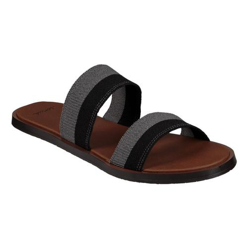 Sanuk Women's Yoga Gora Gora Duo Slip On Sandals BLKCHARC
