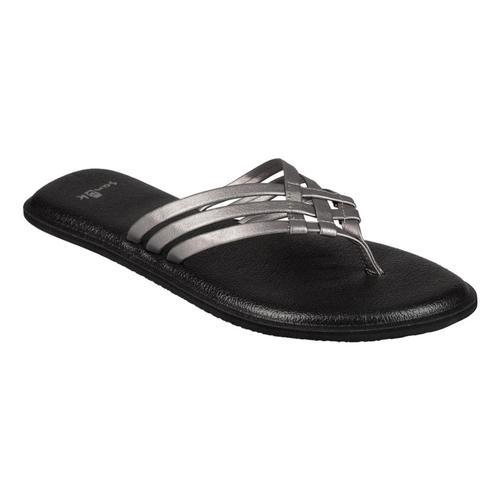 Sanuk Women's Yoga Salty Flip Flop Sandals Pewter