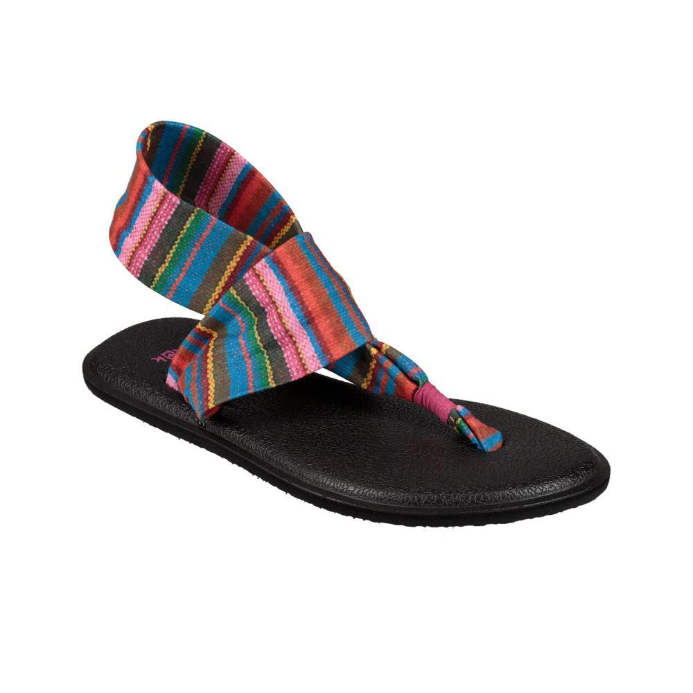 Sanuk Youth Yoga Sling Burst Prints Sandals CABARET