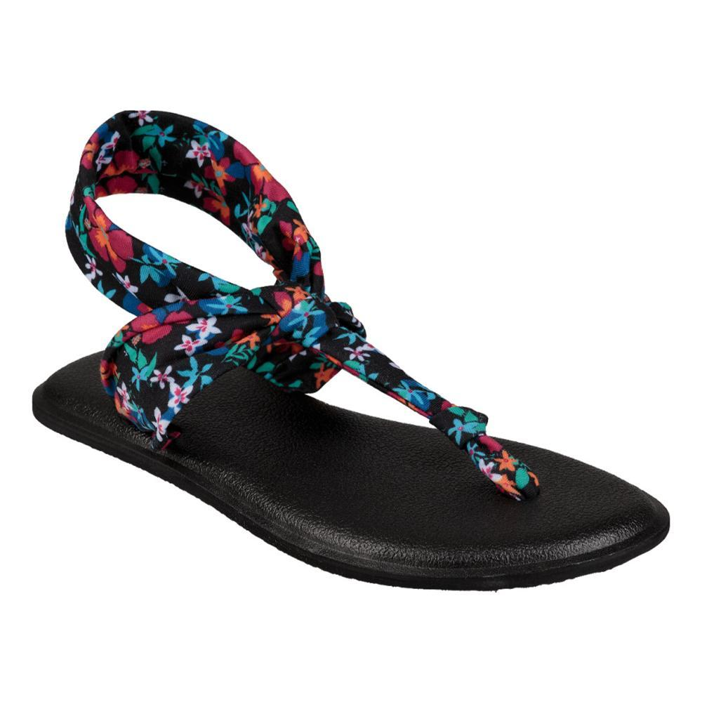 Sanuk Youth Lil Yoga Sling Ella Prints Sandals BLKFLORAL