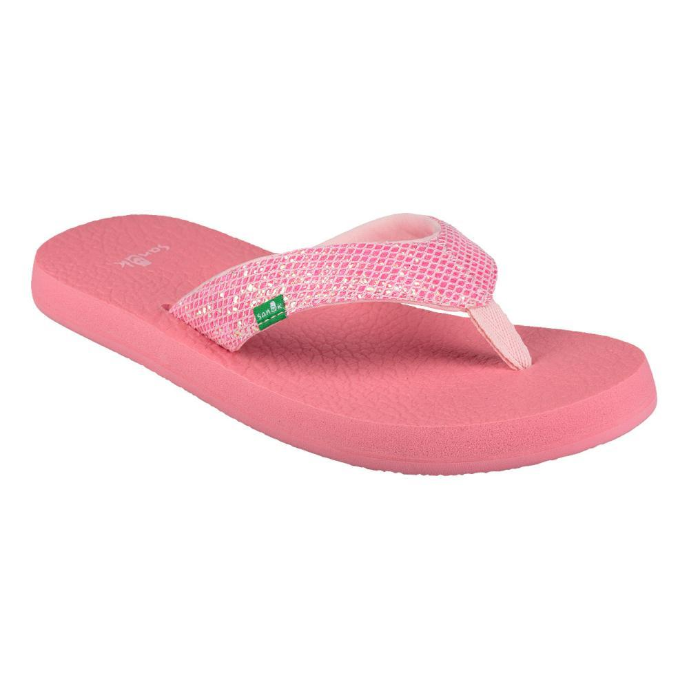 Sanuk Youth Yoga Glitter Flip Sandals PINK