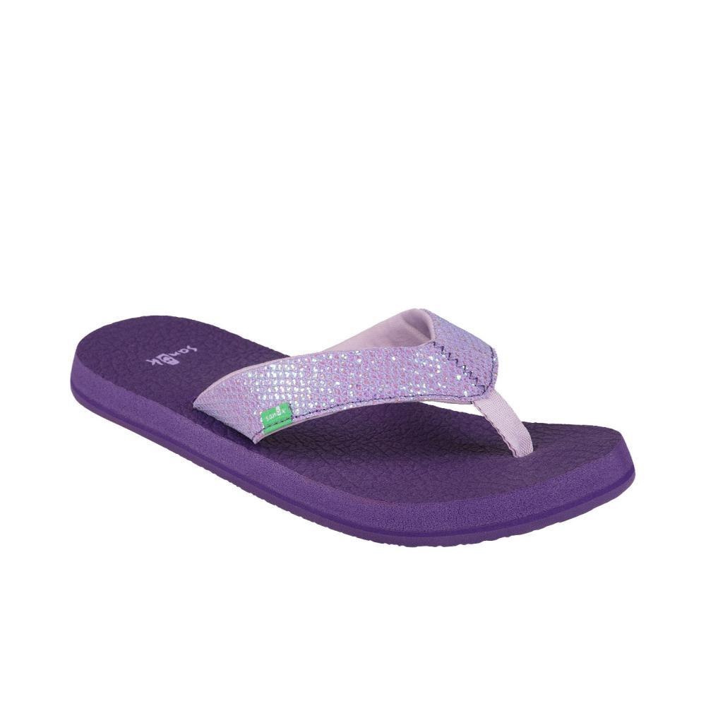 Sanuk Youth Yoga Glitter Flip Sandals