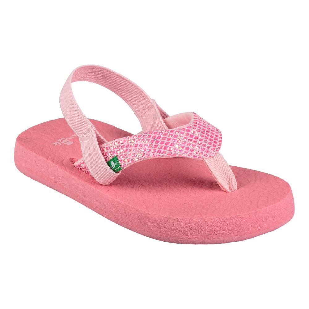 Sanuk Kids Yoga Glitter Flip Sandals PINK