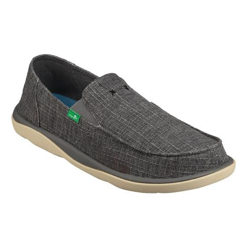 Sanuk Men's Vagabond Tripper Grain Slub Slip On Shoes Chrcslub
