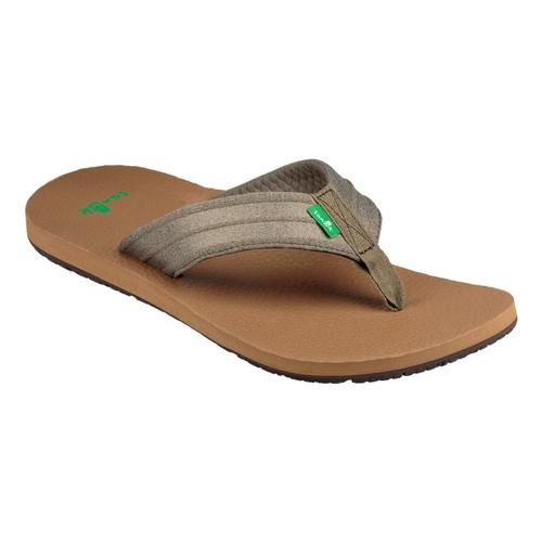 Sanuk Men's Land Shark Flip Sandals Drkolv