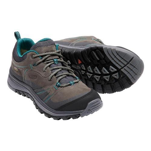 KEEN Women's Terradora Leather Waterproof Hiking Shoes Mushroom