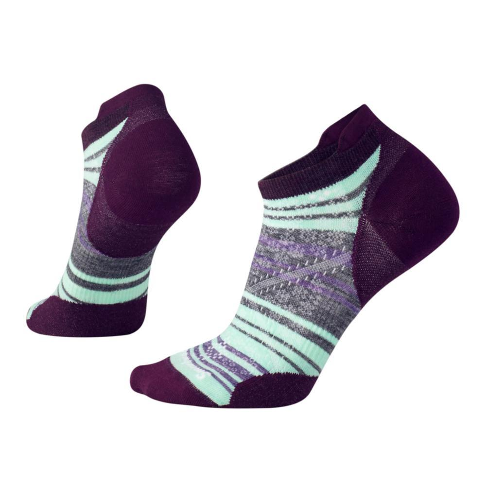 Smartwool Women's PhD Run Light Elite Pattern Micro Socks BOURDEAUX_590