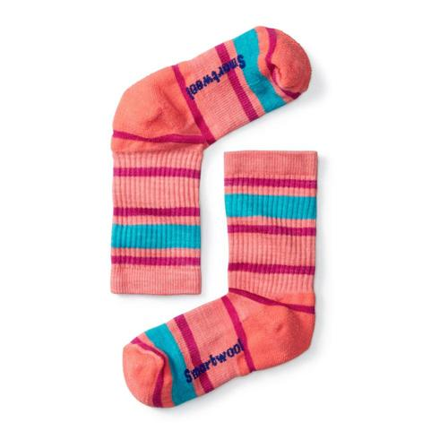 Smartwool Kids Striped Hike Light Crew Socks