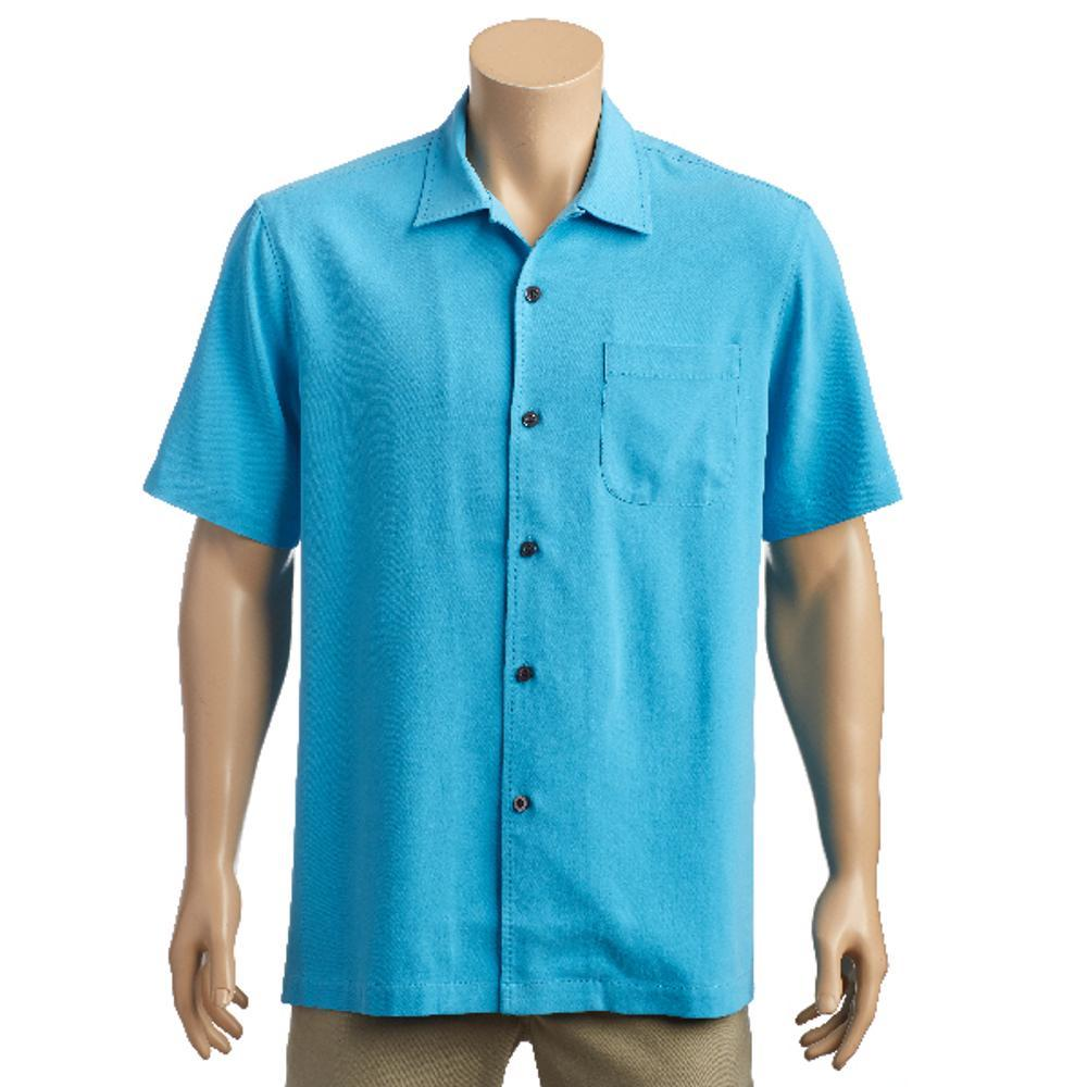 Tommy Bahama Men's Catalina Twill Short Sleeve Shirt BREEZEBLUE