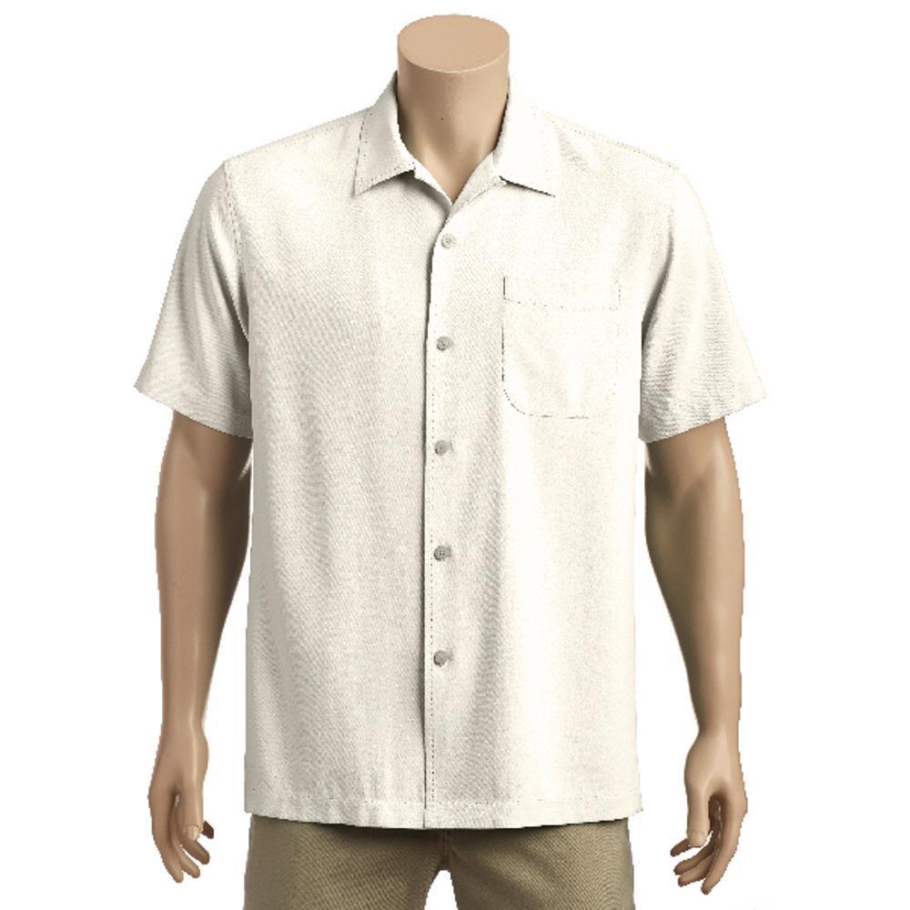Tommy Bahama Men's Catalina Twill Short Sleeve Shirt COCONUT