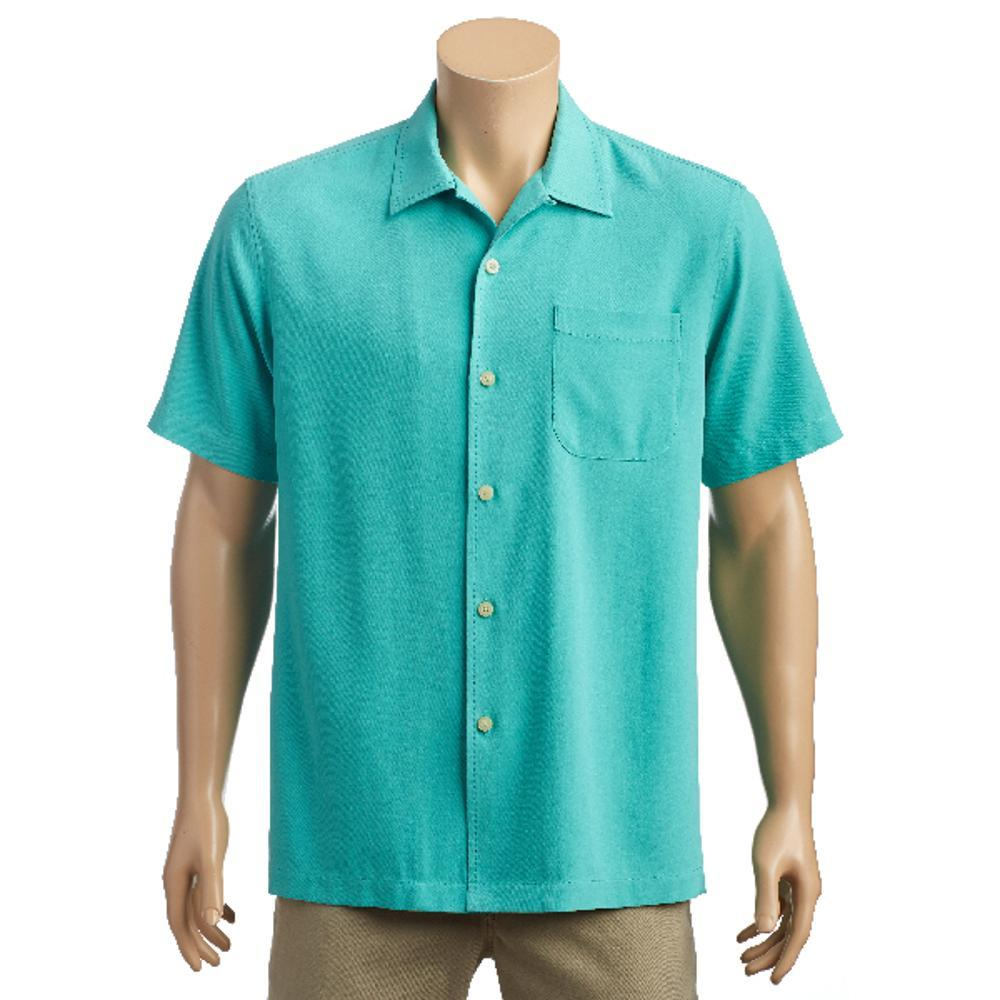 Tommy Bahama Men S Catalina Twill Short Sleeve Shirt Castgreen