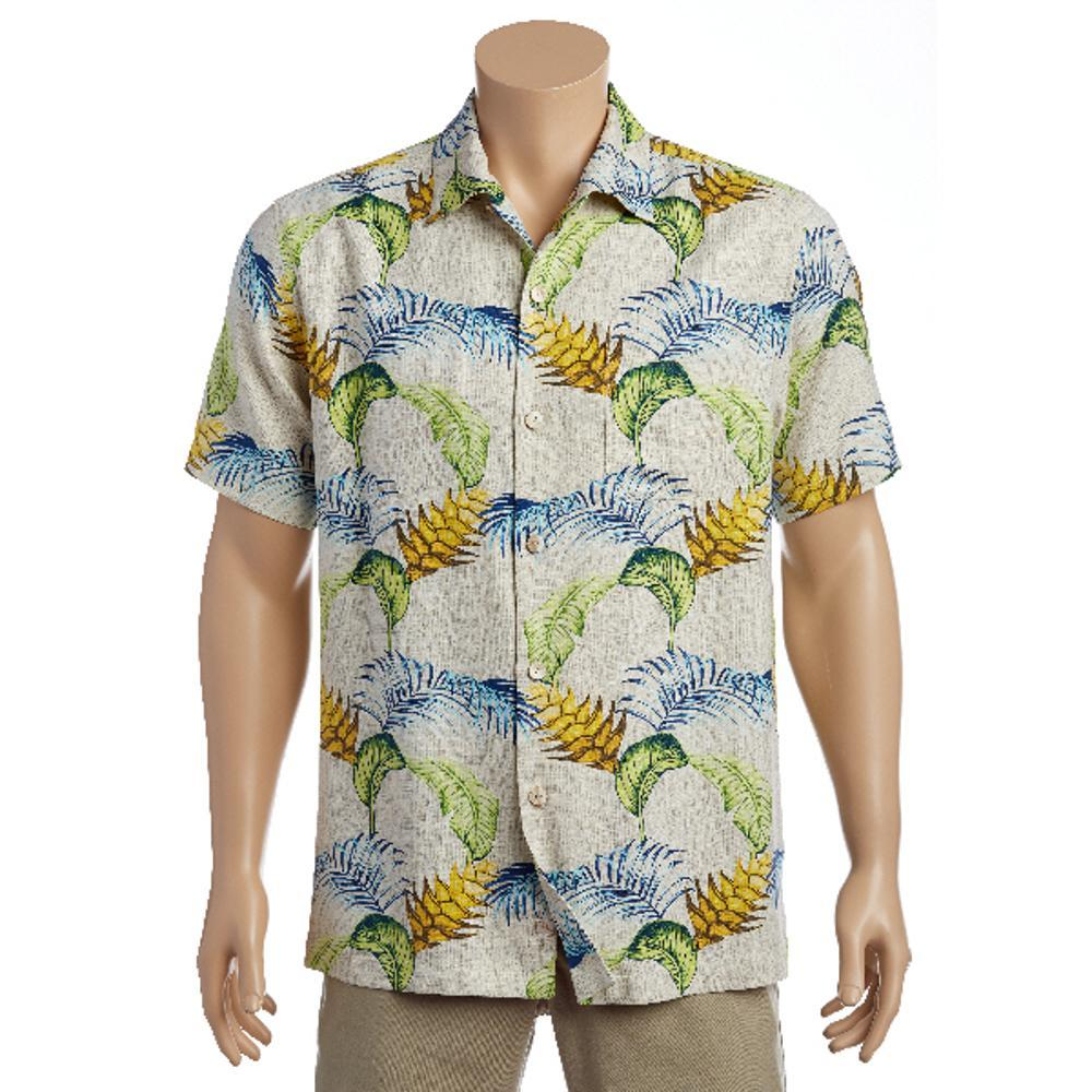 Tommy Bahama Men's Boca Bouquet Short Sleeve Shirt COCOCREAM