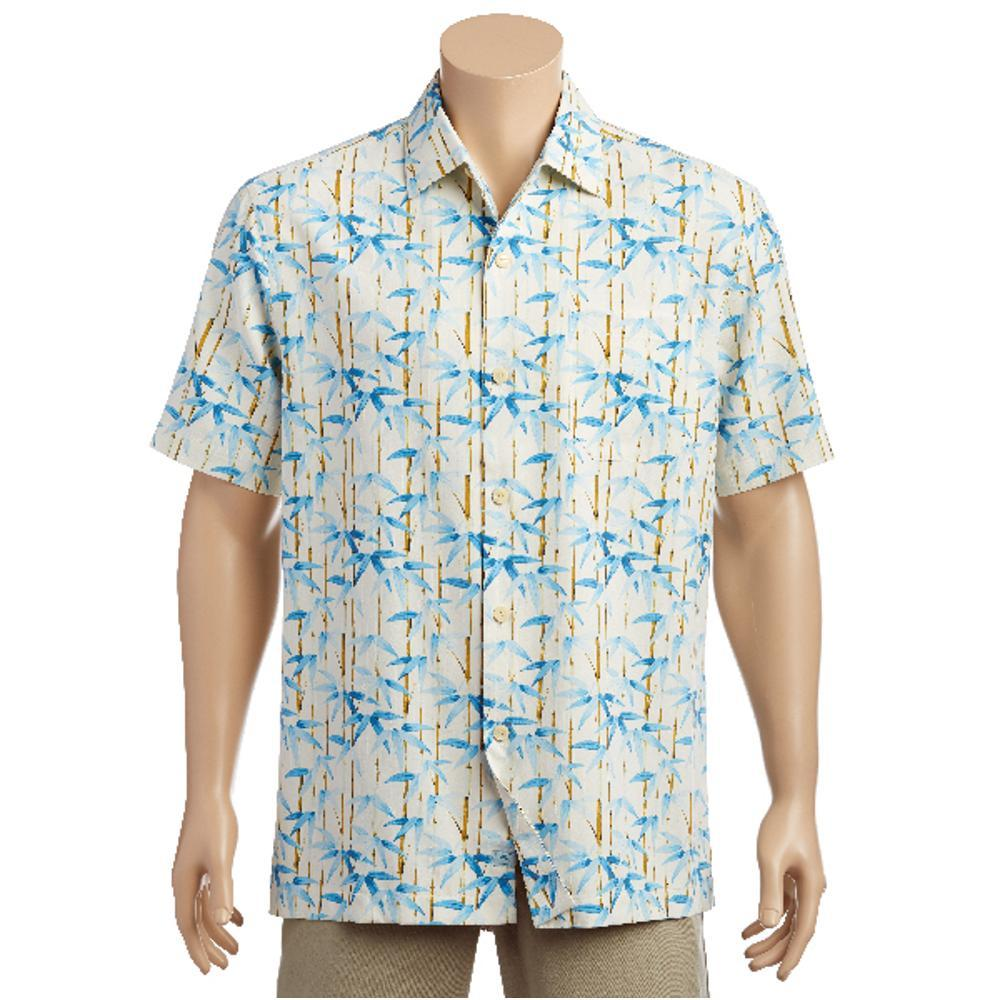 Tommy Bahama Men's Bamboo Forest Short Sleeve Shirt COCOCREAM