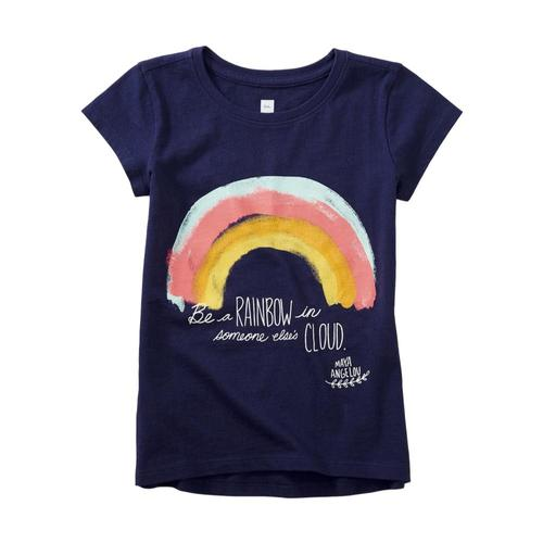 Tea Collection Girls Maya Angelou Rainbow Graphic Tee