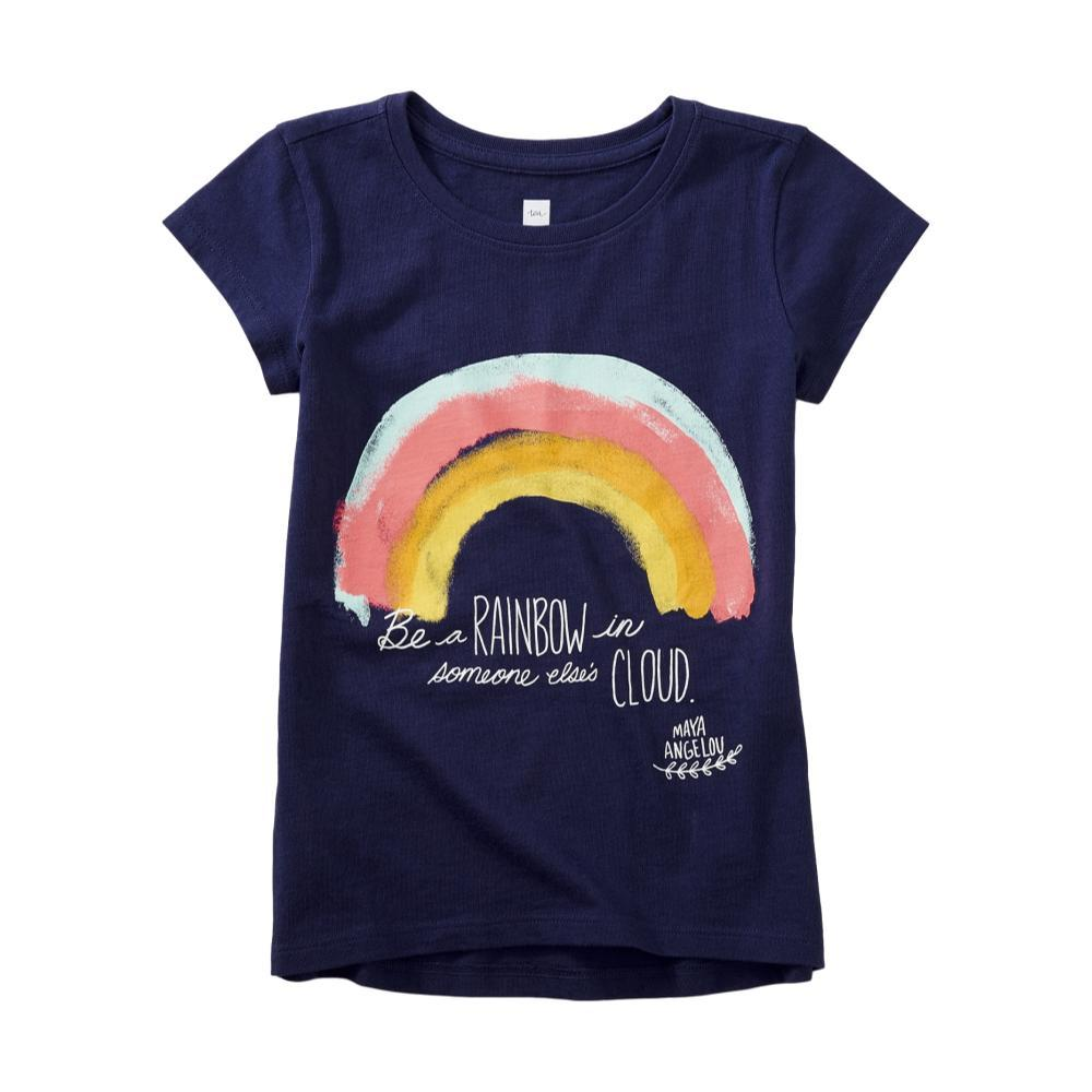 Tea Collection Girls Maya Angelou Rainbow Graphic Tee TWILIGHT
