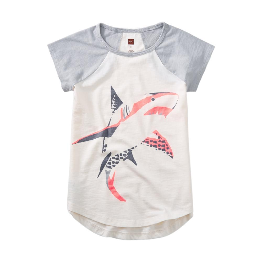 Tea Collection Girls Shark Graphic Tee CHALK