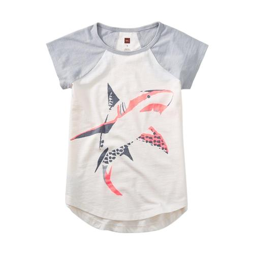 Tea Collection Girls Shark Graphic Tee
