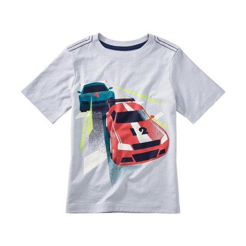 Tea Collection Kids Race Car Graphic Tee