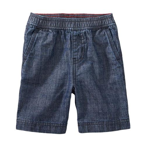 Tea Collection Infant Easy Does It Chambray Shorts Blue