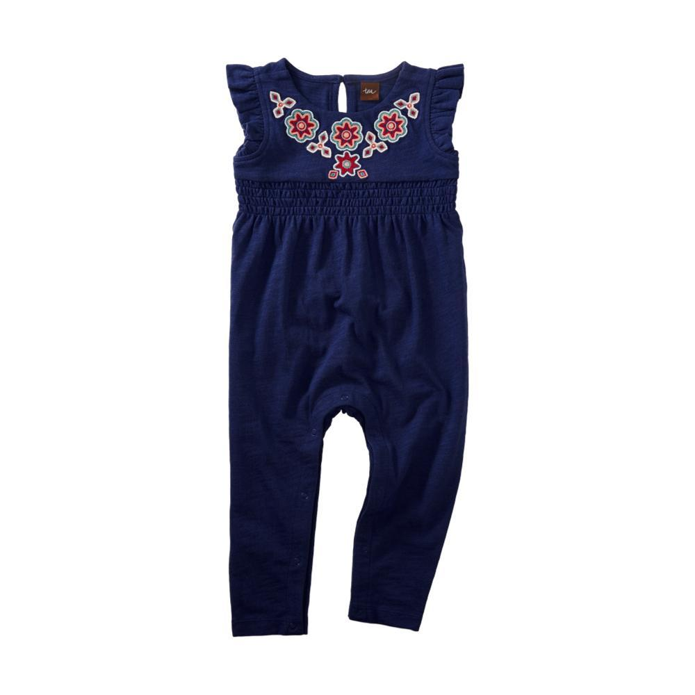 Tea Collection Infant Berry Embroidered Romper TWILIGHT