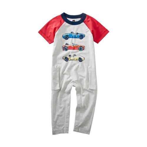 Tea Collection Infant Race Car Raglan Romper