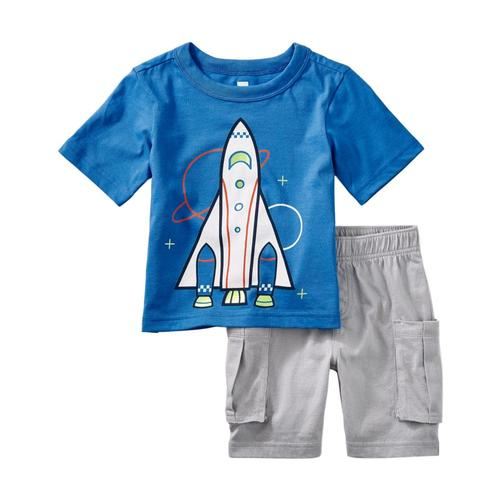 Tea Collection Infant Spaceship Baby Outfit Palaceblue
