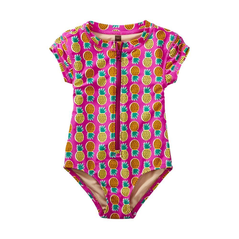 Tea Collection Girls Rash Guard One-Piece Swimsuit TROPICAL