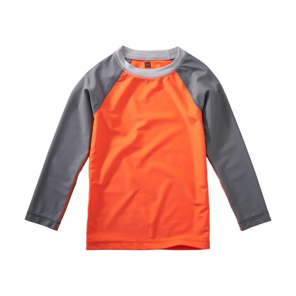 Tea Collection Kids Long Sleeve Raglan Rash Guard NECTARINE