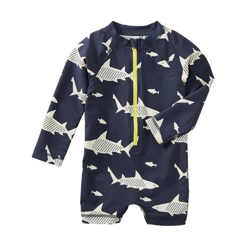 Tea Collection Infant Shark Rash Guard One-Piece Swimsuit