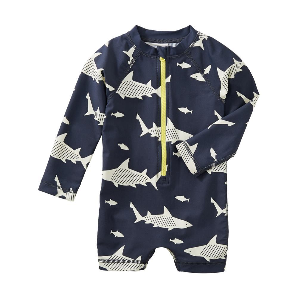 Tea Collection Infant Shark Rash Guard One-Piece Swimsuit SHARKS