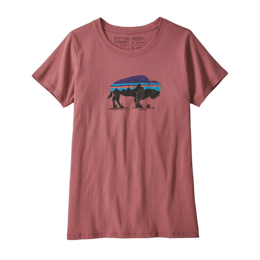 Patagonia Women's Fitz Roy Bison Organic Crew T-Shirt KILNPI_KIPI