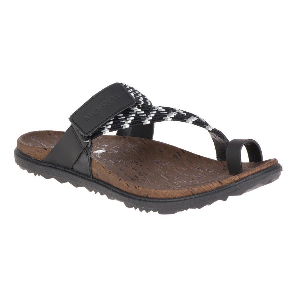 Merrell Women's Around Town Sunvue Thong Woven Sandals BLACK