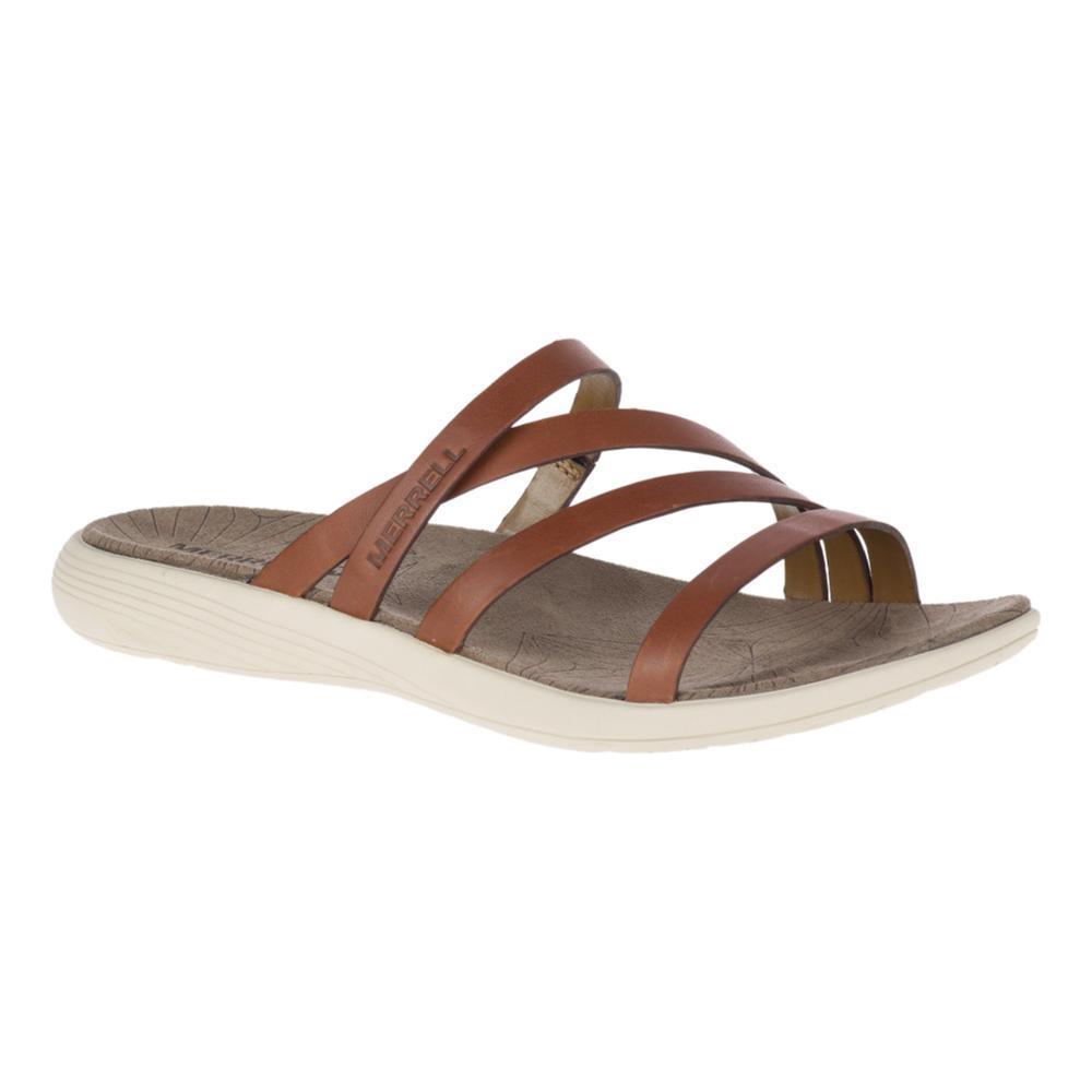 Merrell Women's Duskair Seaway Slide Leather Sandals MEROAK