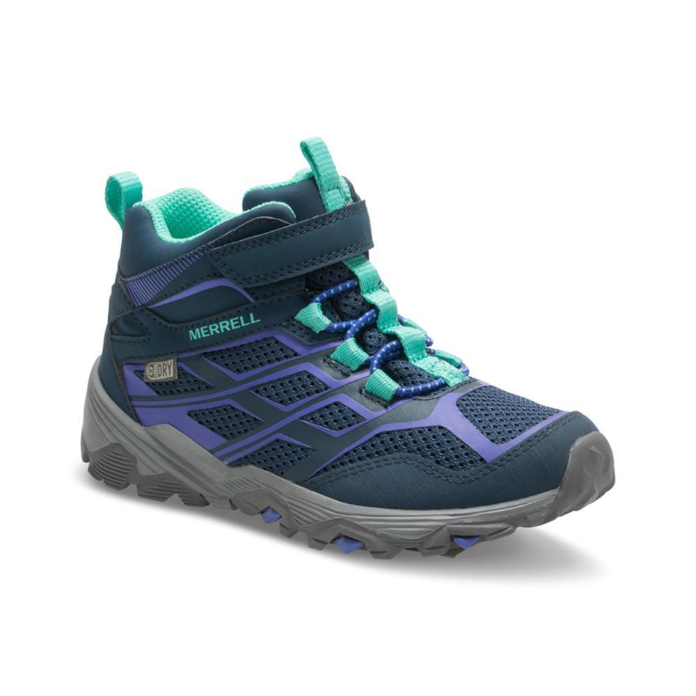 Merrell Kids Moab Mid Waterproof Hiking Boots NAVY