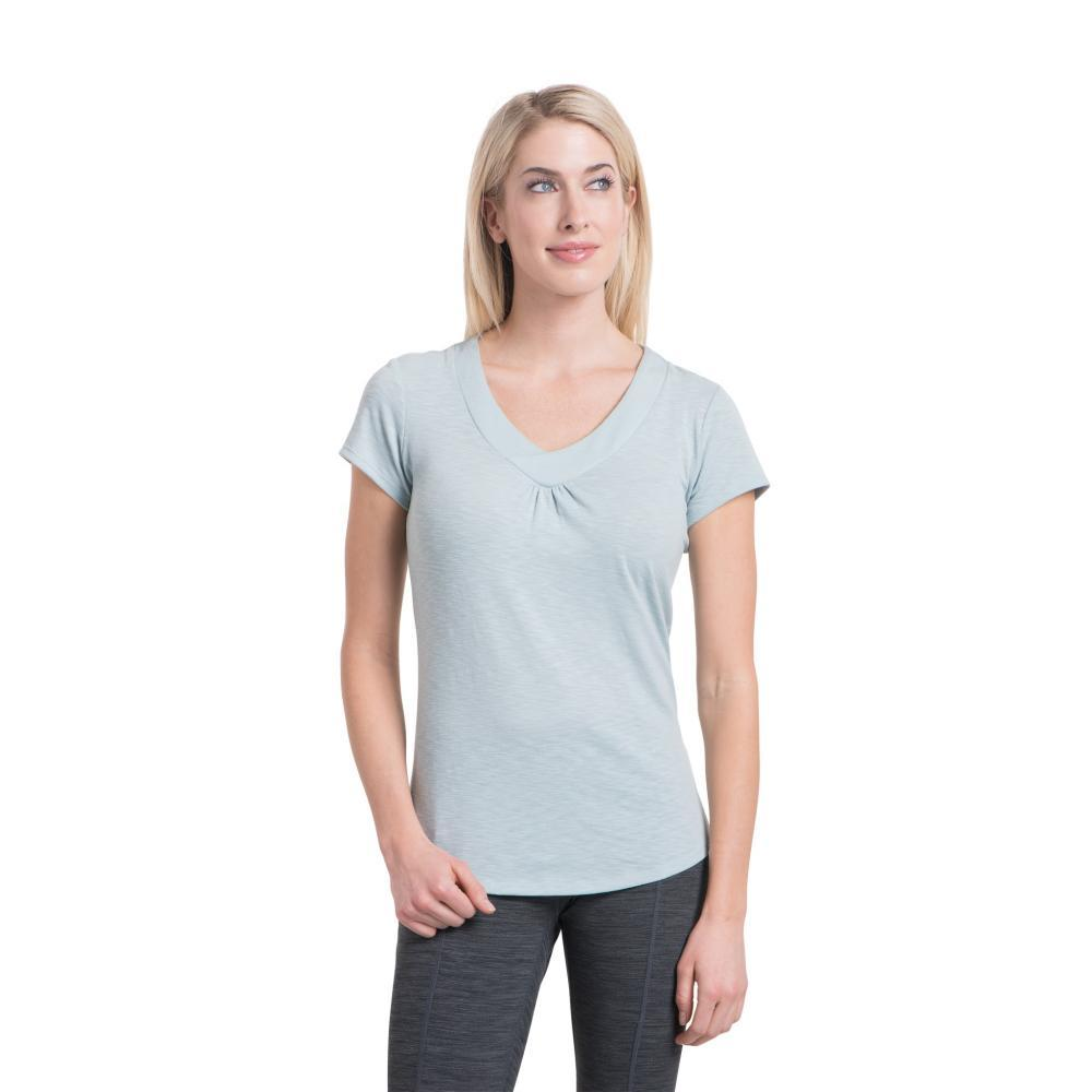 KUHL Women's Sona Short Sleeve Shirt BLUESTONE