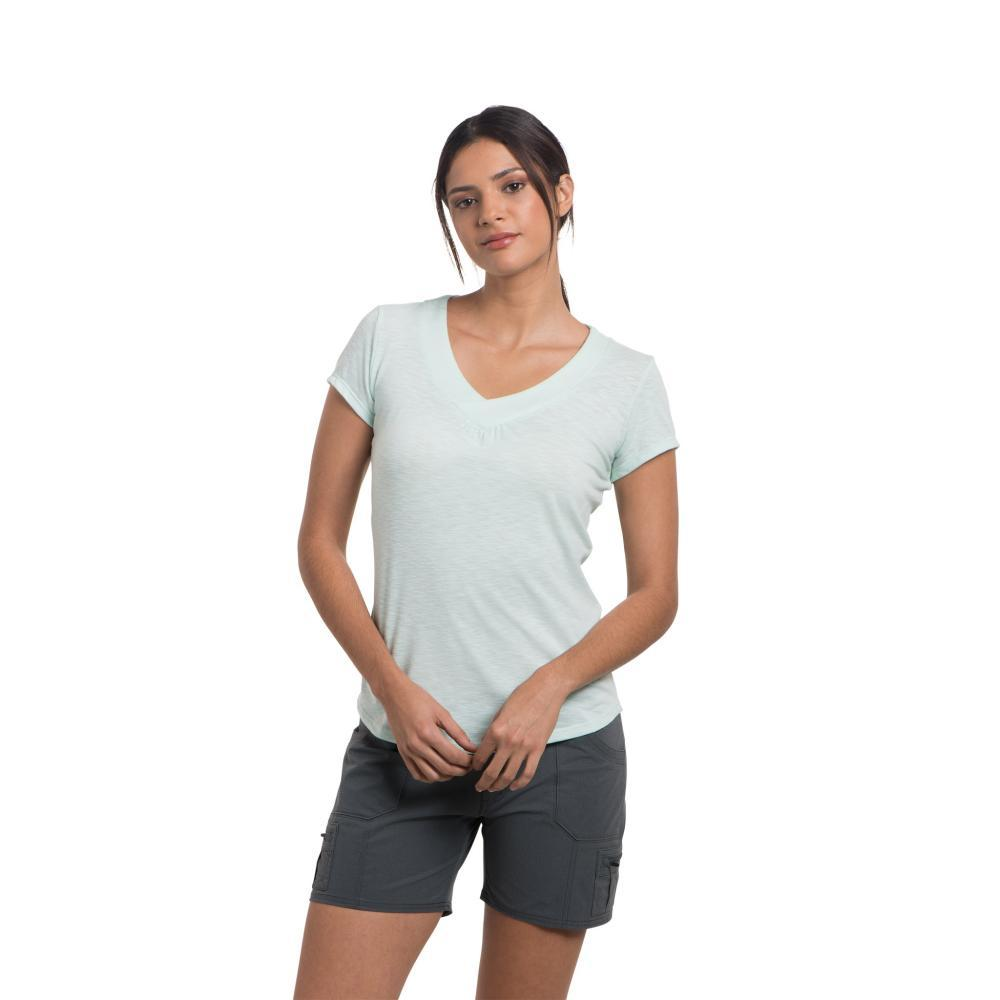 KUHL Women's Sona Short Sleeve Shirt SEAGLASS