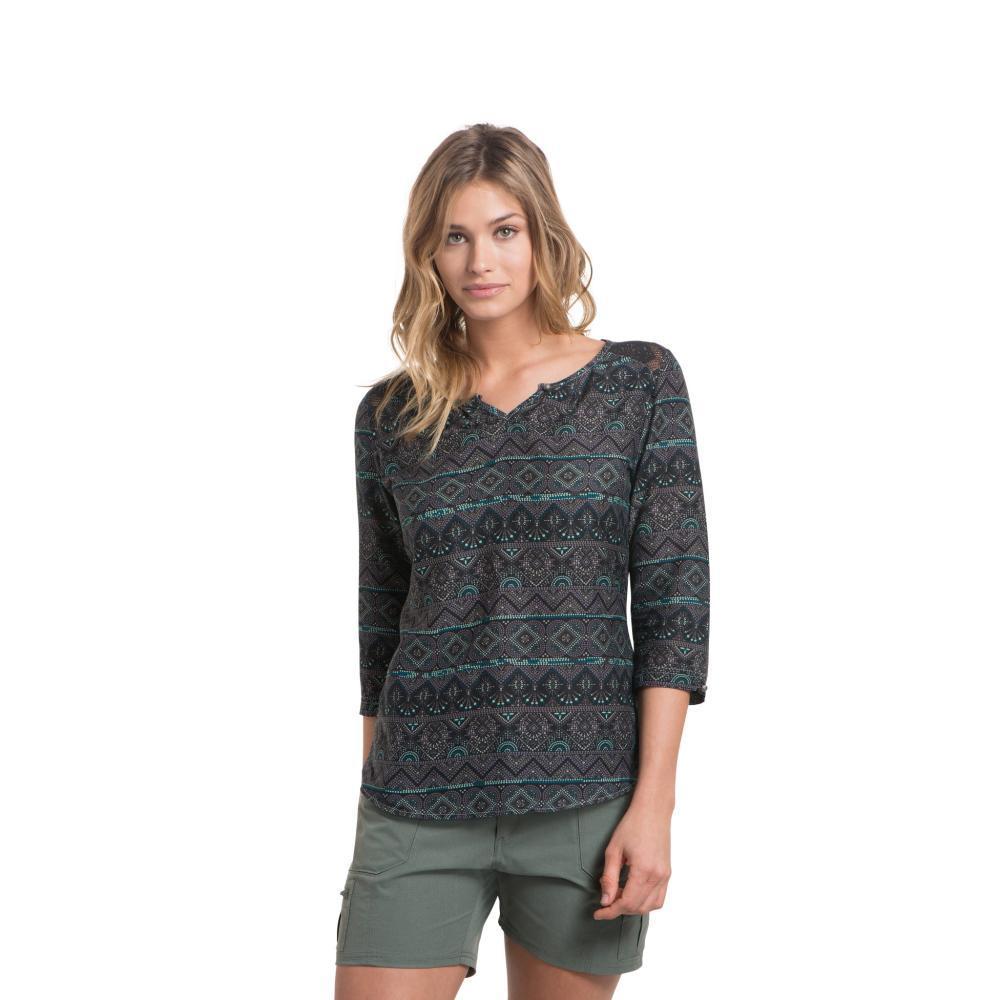 KUHL Women's Flora 3/4 Sleeve Shirt GREYSTONE