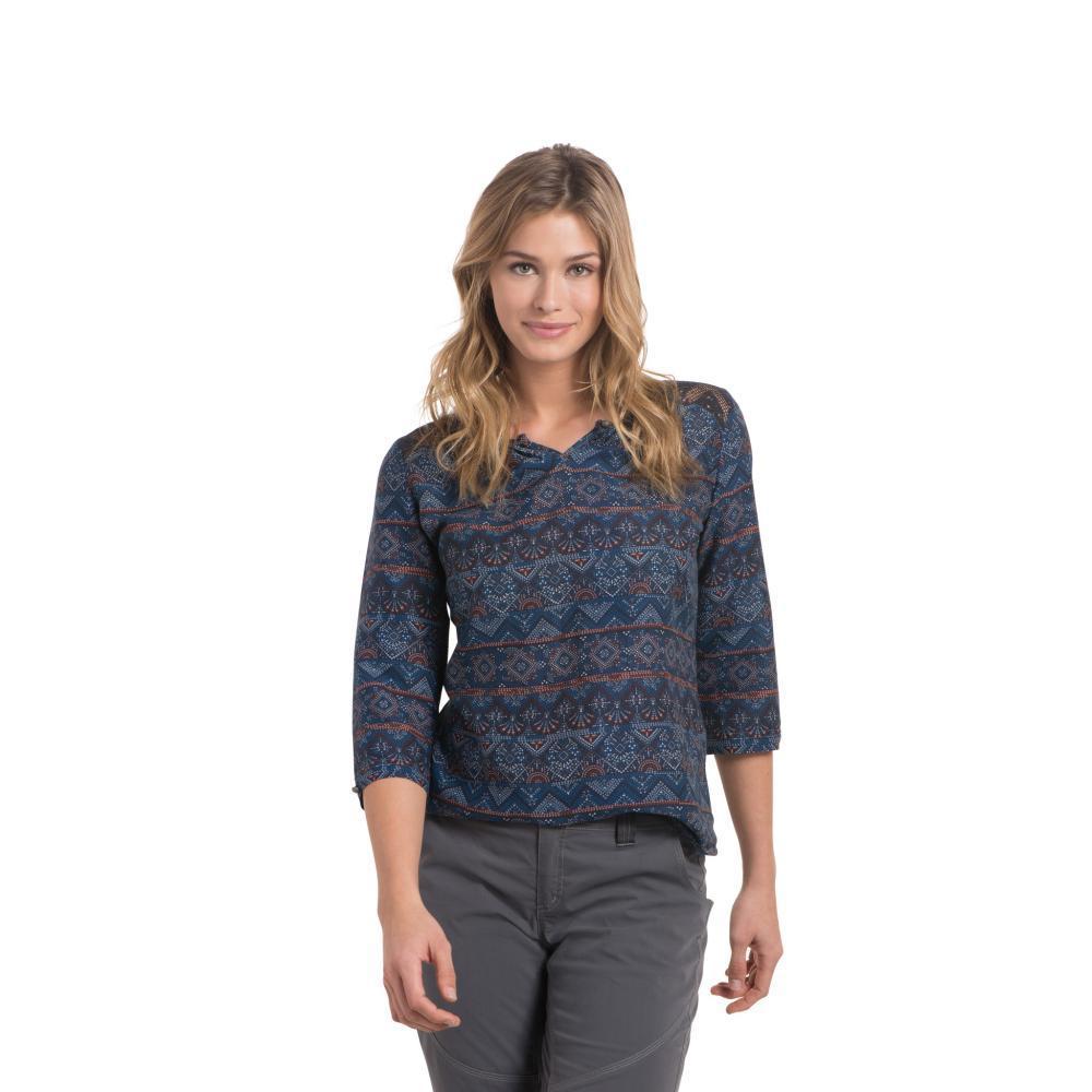 KUHL Women's Flora 3/4 Sleeve Shirt SLATEBLUE