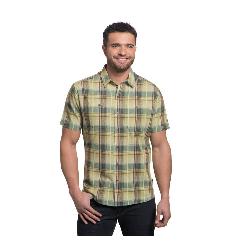 KUHL Men's Skorpio Regular Short Sleeve Shirt AGAVEGOLD